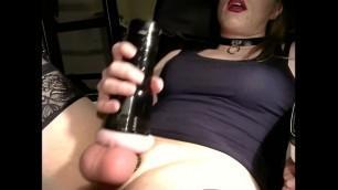 Sexy Crossdresser Fucking a Fleshlight and Cumming on herself